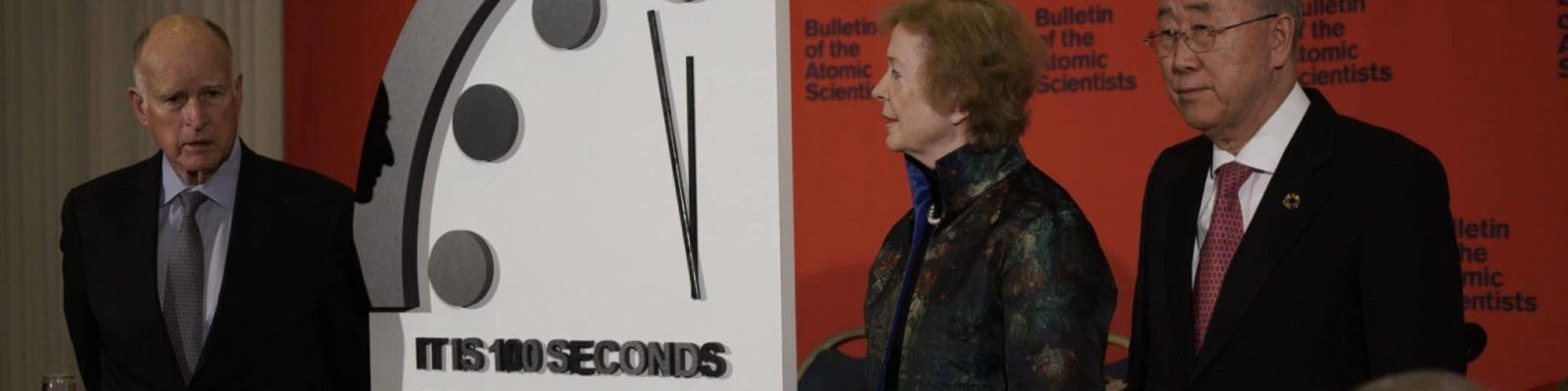 Weltuntergangsuhr 2020: 100 Sekunden bis Mitternacht