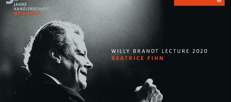 """Beatrice Fihn (ICAN): Willy Brandt Lecture 2020 über """"Deutschland und das internationale nukleare Abrüstungsregime"""""""