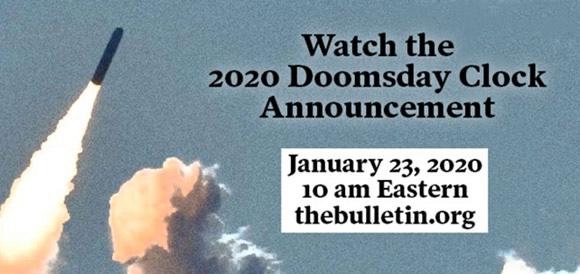 23.01.2020: US-Atomwissenschaftler stellen die Doomsday Clock