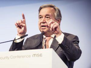 António Guterres während der Münchener Sicherheitskonferenz 2018